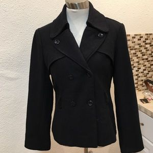 Double Breasted Black Blazer . Thick Faux Corduroy